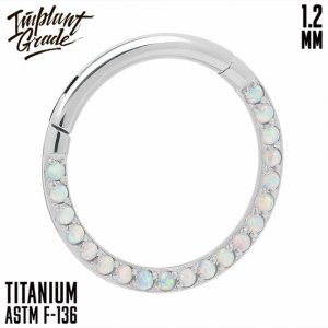 17 opal Side Hinged Segment Ring 1.2 (16 G)