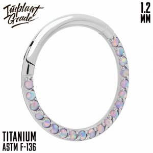 38 opal Side Hinged Segment Ring 1.2 (16 G)