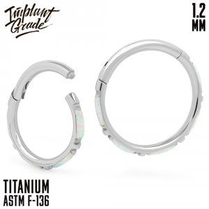17 opal Eveline Hinged Segment Ring 1.2 (16 G)