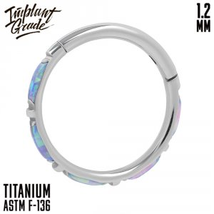 51 opal Eveline Hinged Segment Ring 1.2 (16 G)