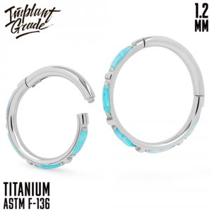 73 opal Eveline Hinged Segment Ring 1.2 (16 G)