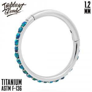 19 opal Twilight Hinged Segment Ring 1.2 (16 G)
