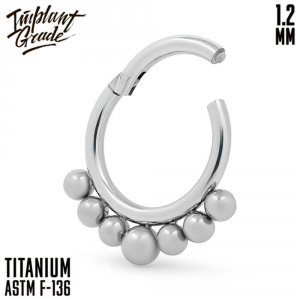 Bead curve Hinged Segment Ring 1.2 (16 G)