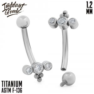 Pixie Curved barbell 1.2 (16 G)