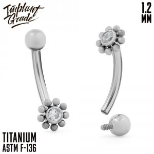 Flower Curved barbell 1.2 (16 G)