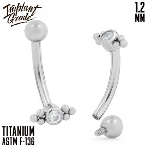 Twinkle Curved barbell 1.2 (16 G)